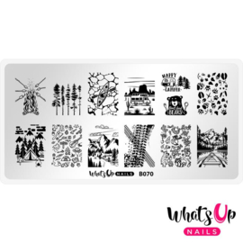 Whats Up Nails - Stamping Plate - B070 - Campfire Stories