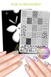 Lina - Stamping Plate - Afair To Remember - 01