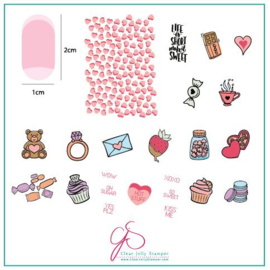 Clear Jelly Stamper - Medium Stamping Plate - CJS_V23 - Sweets & Treats