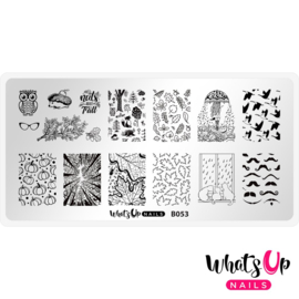 Whats Up Nails - Stamping Plate - B053 That's Pretty Autumn!