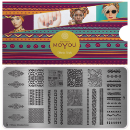 Moyou Nail Fashion - XL Stamping Plate - Ethic Collection - 5