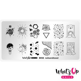 Whats Up Nails - Stamping Plate - B058 Nailsandtowel