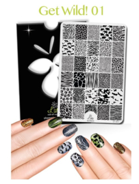 Lina - Stamping Plate - Get Wild! - 01