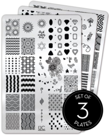 UberChic Beauty - Nail Art Stamping Plates – Collection 22