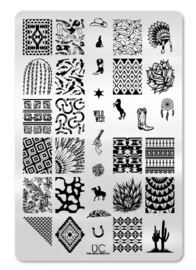UberChic - Big Nail Stamping Plate - Wild West - 01