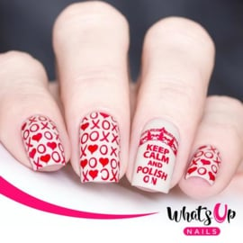 Whats Up Nails - Stamping Plate - B019 Words op Emotions