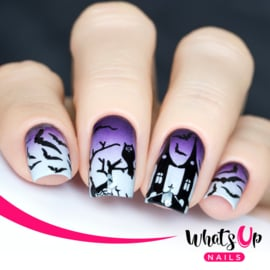 Whats Up Nails - Stamping Plate - A012 Happy Halloween