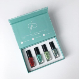 Clear Jelly Stamper - Stamping Polish Kit - Tropical Getaway (4 Colours)