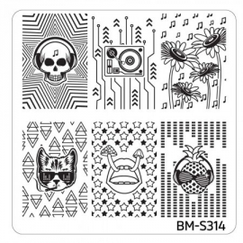 Bundle Monster - Musik City Nail Art Manicure Stamping Plate - BM-S314: The Rhythm, The Rhythm