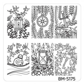 Bundle Monster - Mystic Woods Nail Stamp Plate - Lost Trinkets