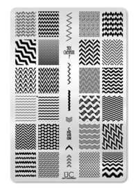 UberChic - Big Nail Stamping Plate - Got Chevron - 01