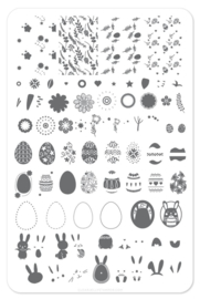 Clear Jelly Stamper - Big Stamping Plate - CJS_H11 - Bunny Kinz