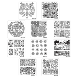 Bundle Monster - Stamping Plate Set - Mystic Woods, Set 1