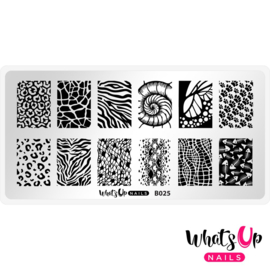 Whats Up Nails - Stamping Plate - B025 Animalistic Nature