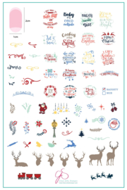 Clear Jelly Stamper - Big Stamping Plate - CJS_C29 - Christmas Express