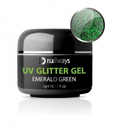 UV GLITTER GEL - Emerald Green
