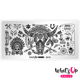 Whats Up Nails - Stamping Plate - A016 Feelin' Southwestern