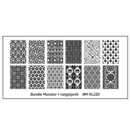 Bundle Monster - nargisjonik Blogger Collaboration Nail Art Polish Stamping Plates (BM-XL220)