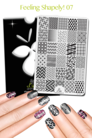 Lina - Stamping Plate - Feeling Shapely! - 07