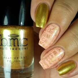 Bundle Monster - Hangloose Nail Art Manicure Stamping Plate - BM-S404, Beach Bum