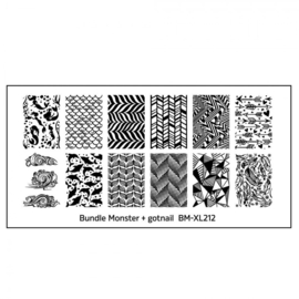 Bundle Monster - gotnail Blogger Collaboration Nail Art Polish Stamping Plates (BM-XL212)