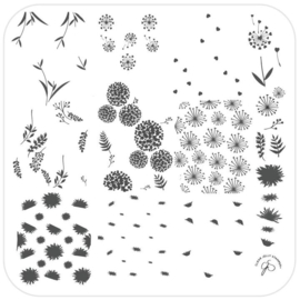 Clear Jelly Stamper - Medium Stamping Plate - CJS_157 -In the Wind