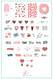 Clear Jelly Stamper - Big Stamping Plate - CJS_V12 - LoVe Notes