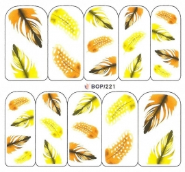 Waterdecals - Yellow Feathers