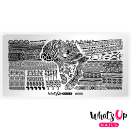 Whats Up Nails - Stamping Plate - A006 A Walk on the Wild Side