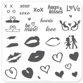 Clear Jelly Stamper - Stamping Plate - CJS_V01 - Luscious Lips & Love