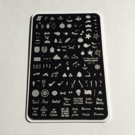Clear Jelly Stamper - Big Stamping Plate - CJS_LC15 - Ahoy Matey