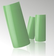 Mint Groene Parel Nagel Tips in Box - 100 stuks