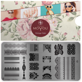 Moyou Nail Fashion - XL Stamping Plate - Vintage Collection - 6