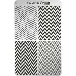 Yours Cosmetics - Stamping Plates - :YOURS Loves Sascha - YLS29. Edgy Zebra