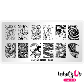 Whats Up Nails - Stamping Plate - B059 Thirsty Texture