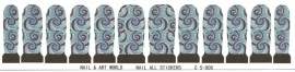 Whole Nail Waterdecal - Blue Wave