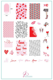 Clear Jelly Stamper - Big Stamping Plate - CJS_V24 - All you Need is Love