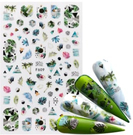 Nailways - Nail Stickers - F609 - Palm Trees