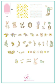 Clear Jelly Stamper - Big Stamping Plate - CJS_97 - Life in Bloom