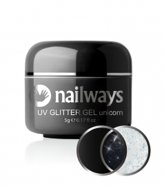 Nailways - NWUVGL04 - UV GLITTER GEL - Unicorn