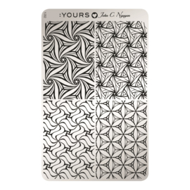 Yours Cosmetics - Stamping Plates - :YOURS Loves John - YLJ02. Psychedelic