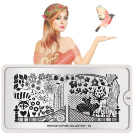 MoYou London - Stamping Plate - Mother Nature 04
