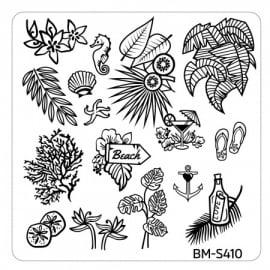 Bundle Monster - Hangloose Nail Art Manicure Stamping Plate - BM-S410, Beach This Way