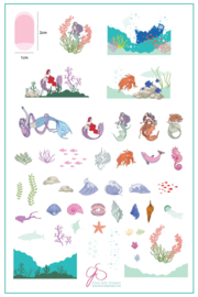 Clear Jelly Stamper - Big Stamping Plate - CJS_LC48 - Suzie's Mermaid & Things