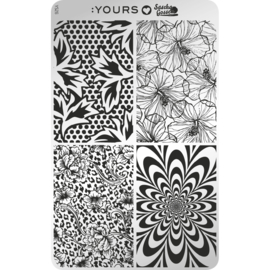 Yours Cosmetics - Stamping Plates - :YOURS Loves Sascha - YLS26. Blooming Four