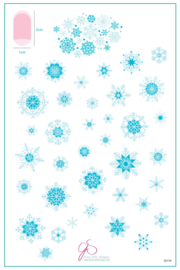 Clear Jelly Stamper - Big Stamping Plate - CJS_C24 Snowflakes