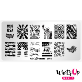Whats Up Nails - Stamping Plate - B066 - Slice of Americana
