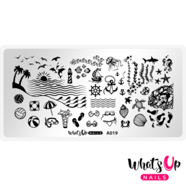 Whats Up Nails - Stamping Plate - A019 Beach Mode