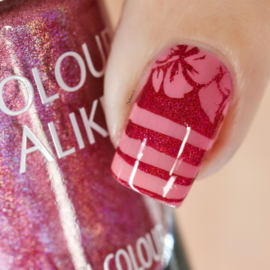Colour Alike - Stamping Polish - Tropical Rainbow - 81. Love Potion (Holographic)