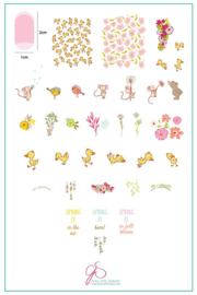 Clear Jelly Stamper - Big Stamping Plate - CJS_95 - Spring is in the Air
